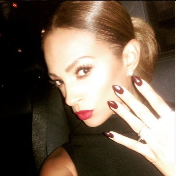 Alesha Dixon's NTA's beauty look, 21/1/15