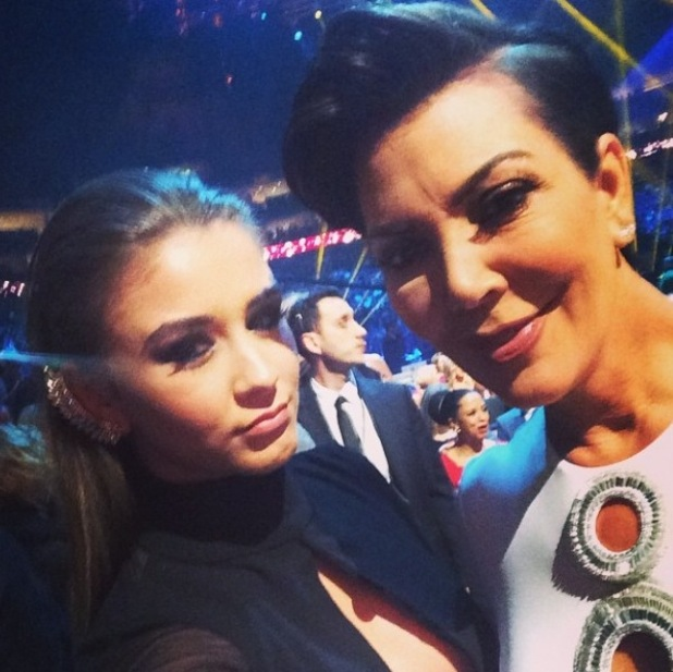 Brooke Vincent with Kris Jenner at National Television Awards, 21/1/15