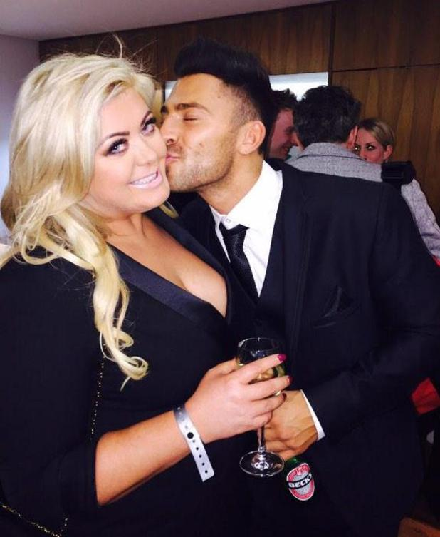 Gemma Collins gets kiss from Jake Quickenden at the National Television Awards - 21 January 2015.