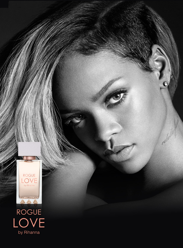 Rihanna's campaign image for her new perfume Rogue Love - January 2015