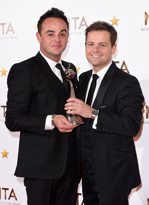Ant McPartlin and Declan Donnelly win at NTAs, The O2, London 21 January