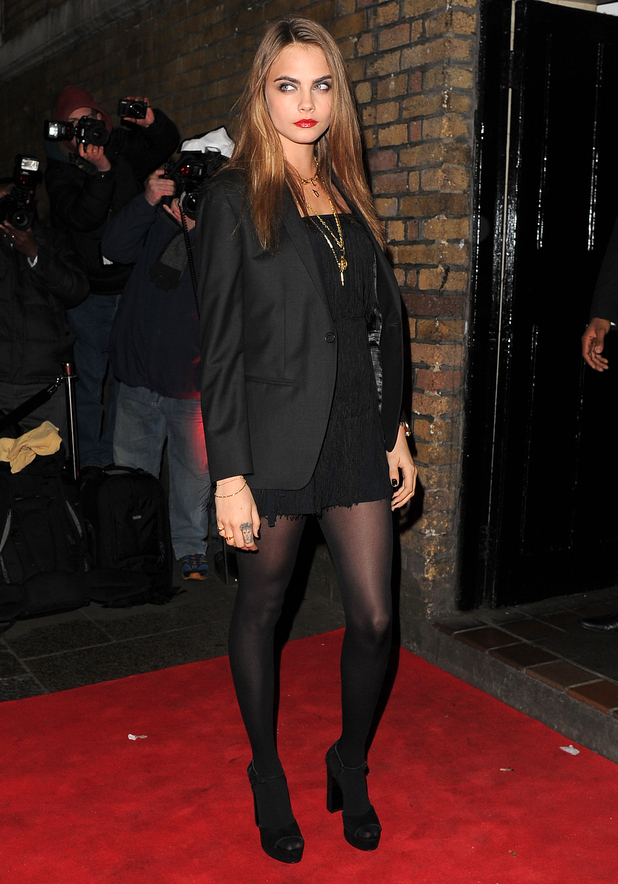 Cara Delevingne attends the YSL 'Love Your Lips' party, held at The Boiler House in East London - 20 January 2015