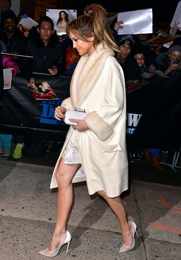 Jennifer Lopez arrives at The Daily Show with Jon Stewart TV studios in New York, America - 20 January 2015