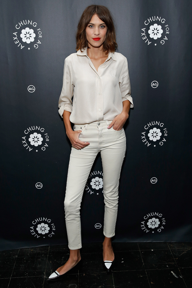 Alexa Chung launches her clothing collection for AG at Bergdorf Goodman department store in New York, America - 20 January 2015
