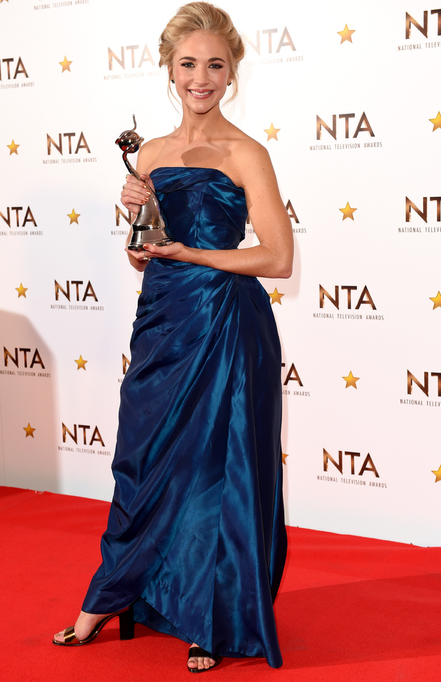 EastEnders' Maddy Hill wins 'Best Newcomer' at NTAs, The O2, London 21 January