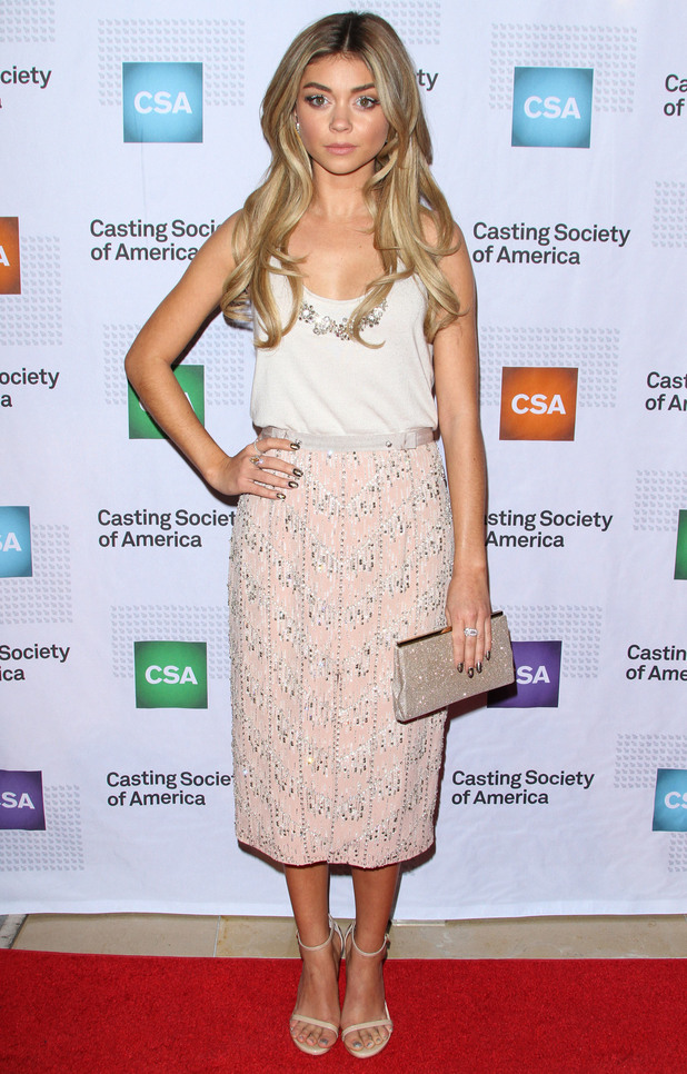 Sarah Hyland attends the Casting Society of America's 30th annual Artios Awards in Beverly Hills, Los Angeles - 22 January 2015