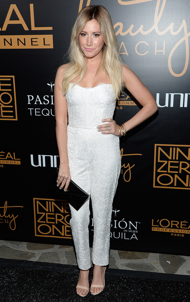 Ashley Tisdale attends the Nine Zero One hair salon launch in Los Angeles, America - 17 January 2015