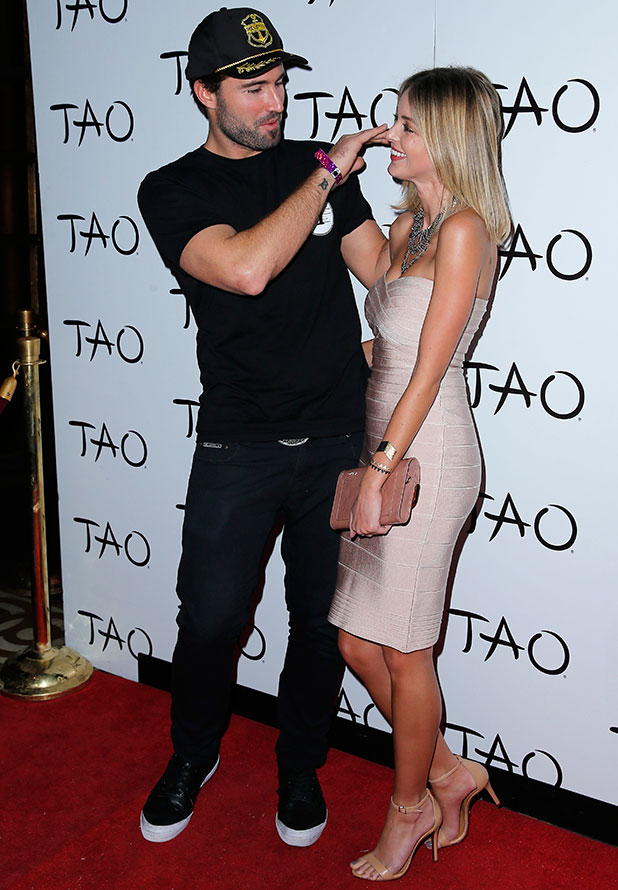 Brody Jenner and Kaitlynn Carter DJs at TAO Nightclub inside The Venetian Resort Hotel Casino, 16 January 2015.