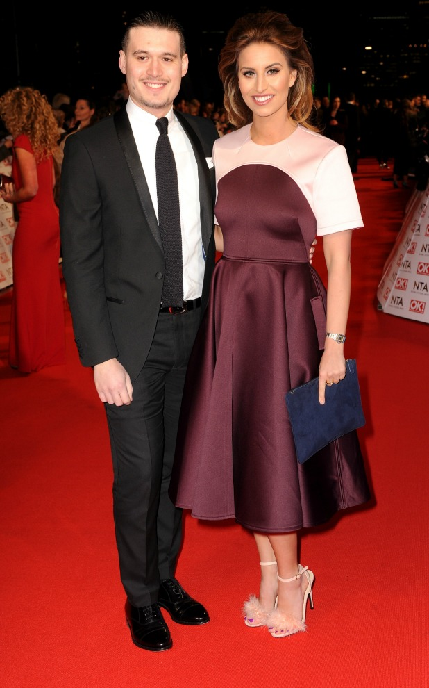 National Television Awards, The O2, London, Britain - 21 Jan 2015 Charlie Sims and Ferne McCann
