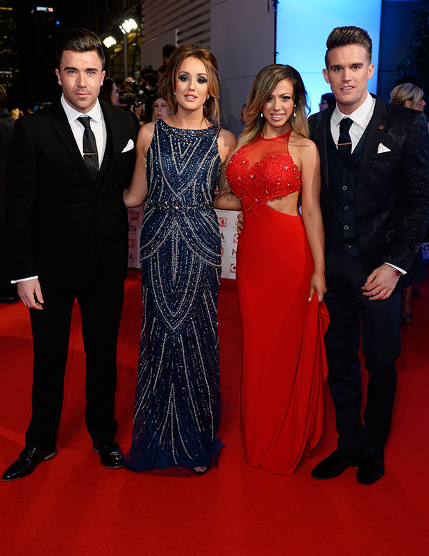 James Tindale, Charlotte Crosby, Holly Hagan and Gaz Beadle attend the National Television Awards at 02 Arena on January 21, 2015 in London, England. (Photo by David M. Benett/Getty Images)