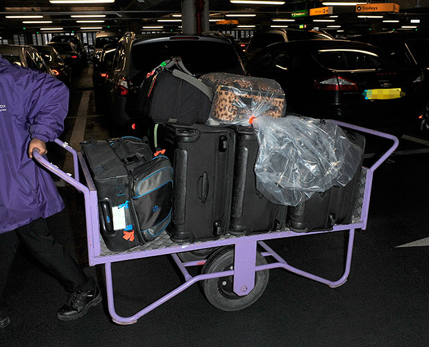 Kris Jenner arrives at Heathrow Airport, 21 January 2015