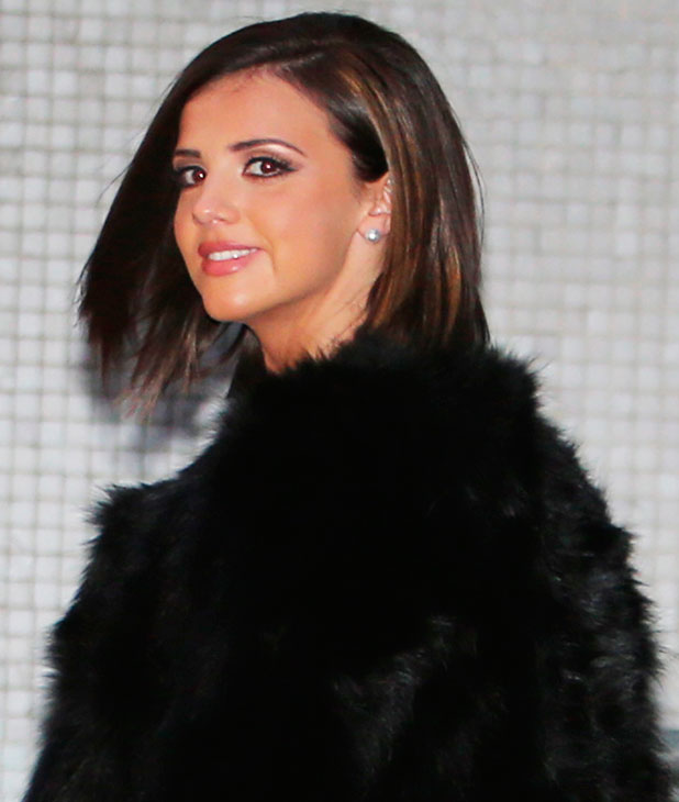Lucy Mecklenburgh outside ITV studios, 21 January 2015