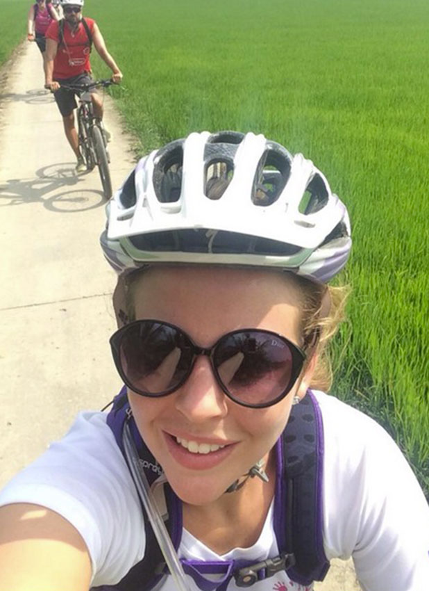 Lydia Bright does a charity cycle through Vietnam and Cambodia, January 2014