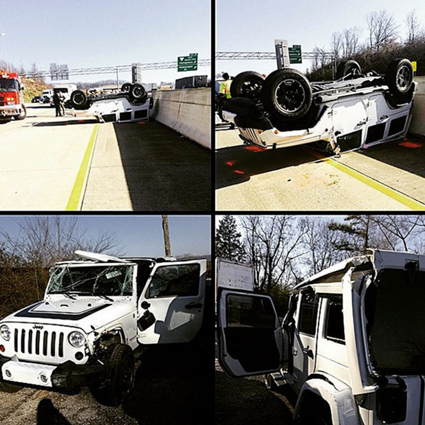 Teen Mom star Maci Bookout escapes from car crash, 17 January 2015
