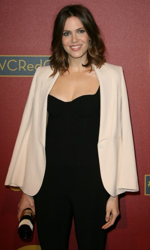 Mandy Moore at QVC Red Carpet Style Pre-Oscar Cocktail Party held at Four Seasons Hotel. 2014