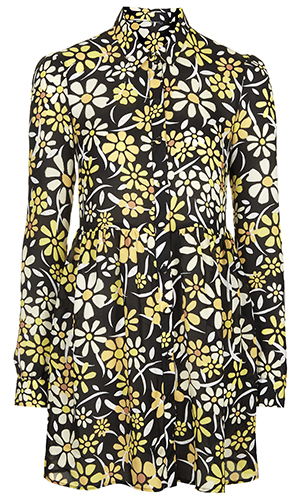 Topshop flower print dress