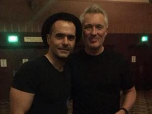Ex EastEnders stars Martin Kemp and Michael Greco reunite in Los Angeles