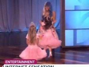 Sophia Grace and Rosie meet Nicki Minaj on Ellen Degeneres - 28 Jan 2015