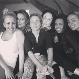 Lydia Bright and friends on girly retreat birthday party 27 January