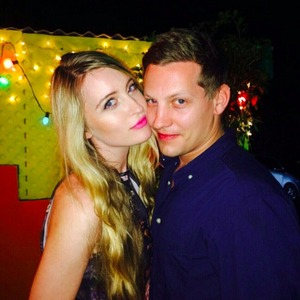 Hollyoaks' James Sutton pictured with girlfriend Kit Williams on holiday in Barbados, 28 Jan 2015