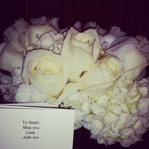 MIC's Stephanie Pratt gets surprise flowers from Josh Shepherd 30 January
