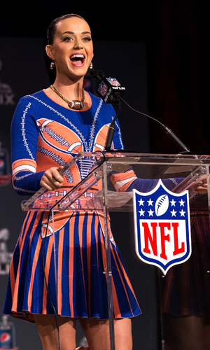 Katy Perry speaks onstage at the Pepsi Super Bowl XLIX Halftime Show Press Conference on January 29, 2015 in Phoenix, Arizona.