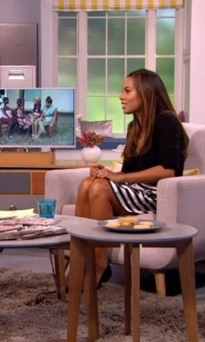 Rochelle Humes on Lorraine, ITV 26 January