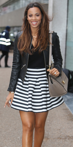 Rochelle Humes outside the ITV studios, London 26 January