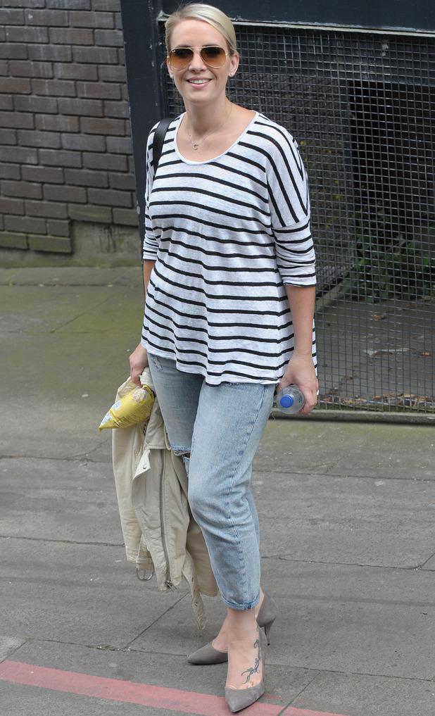 Claire Richards outside ITV studios: 23 June 2014