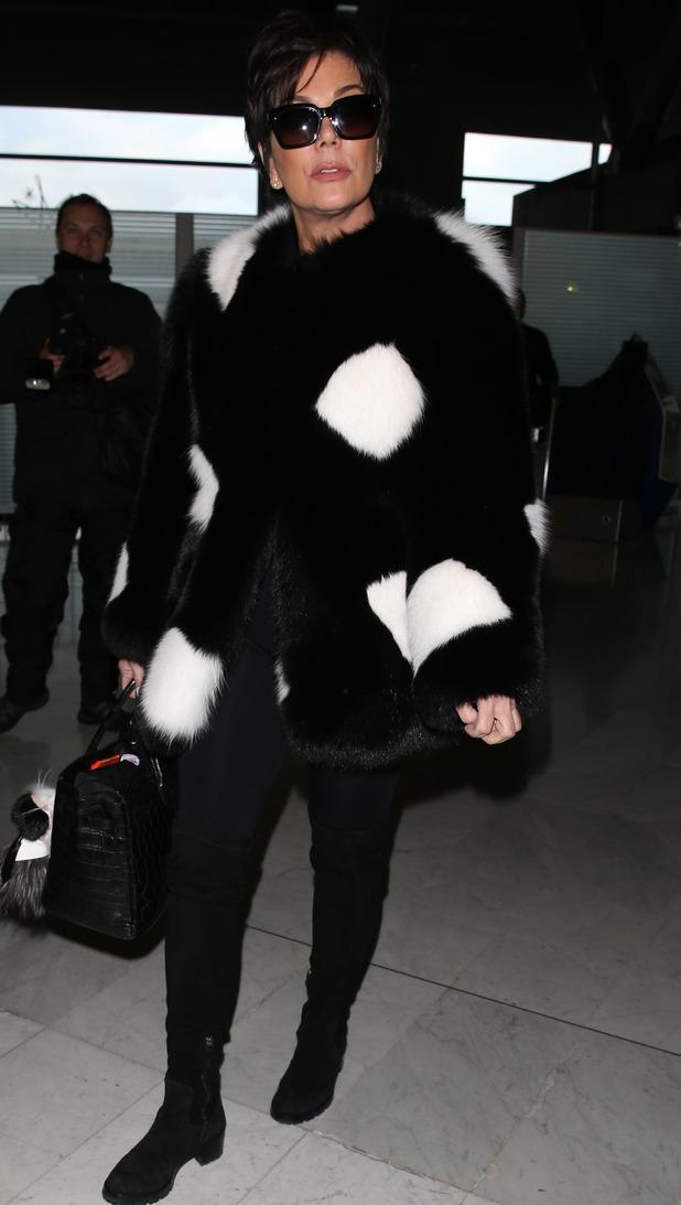 Kris Jenner at Charles de Gaulle Airport, 27/1/15