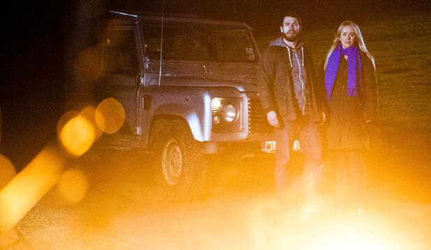 Emmerdale, Katie and Andy's caravan goes up in flames, Mon 2 Feb