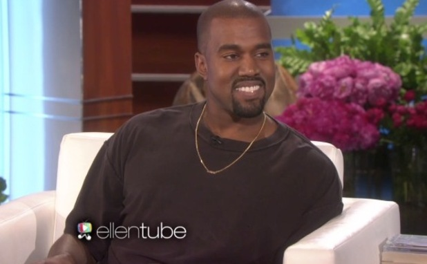 Kanye West talks Kim and North on the Ellen DeGeneres Show - 28 January 2015.