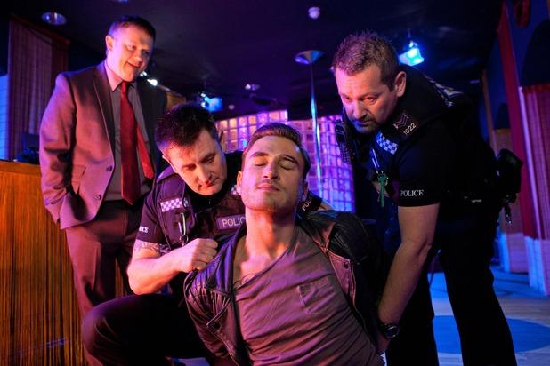 Hollyoaks, Freddie arrested, Tue 27 Jan