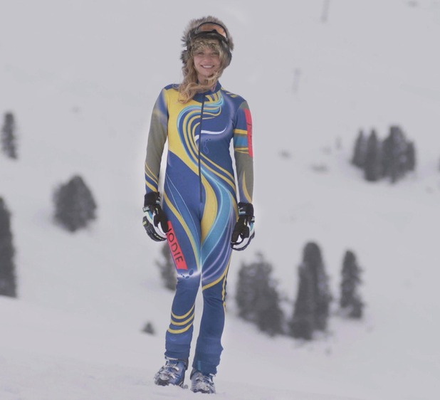 The Jump series two competitor Jodie Kidd - February 2015.