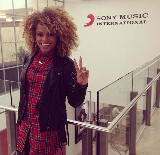 Fleur East has a meeting at Sony Music HQ in London - 27 January 2015.