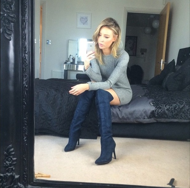 Lauren Pope wears over-the-knee boots by Missguided.co.uk - 24 January 2015