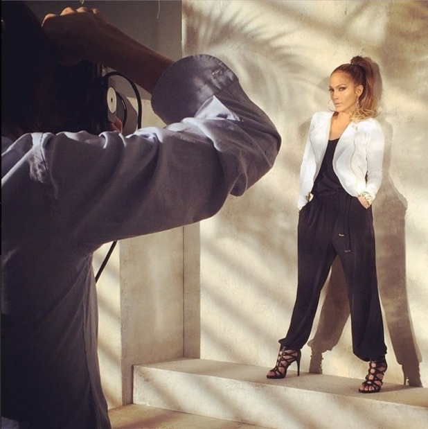 Jennifer Lopez models designs from her new spring/summer '15 collection for Kohl's - 28 January 2015