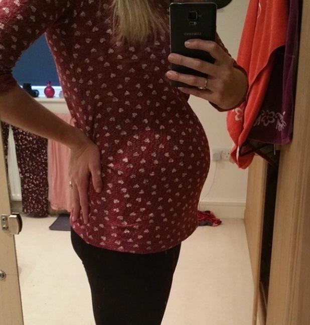 Pregnant Rebecca Adlington shares new photo of baby bump  - 25 January.
