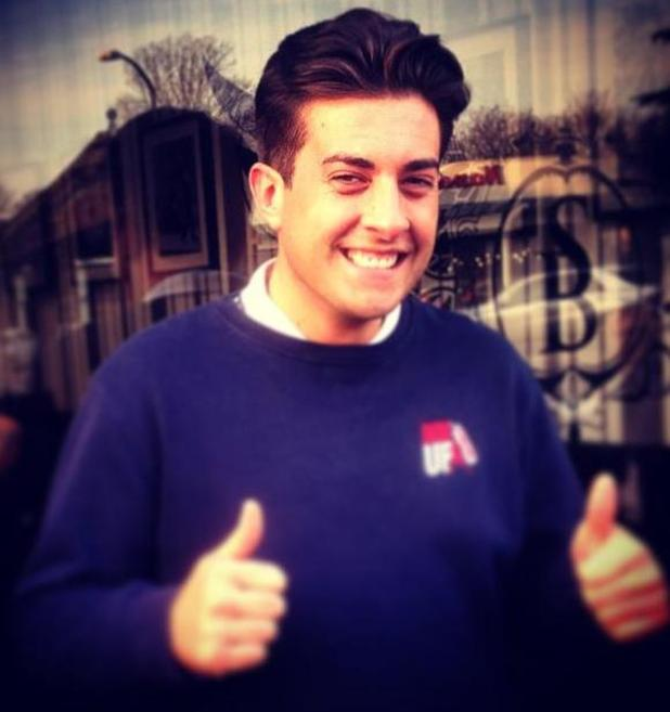 TOWIE's James 'Arg' Argent gets a haircut in Essex - 27 January 2015.