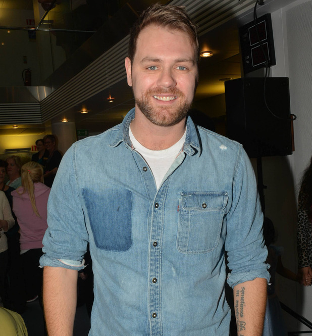 Brian McFadden attends the annual Christmas Ward Walk 2014 at Our Lady's Hospital For Sick Children - 22/12/ 2014