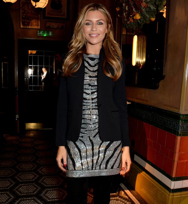 Abbey Clancy attends LOVE Balmain Xmas Party 15 December 2014