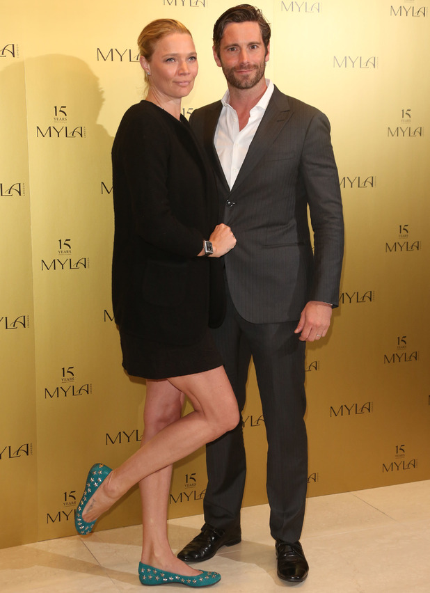 Jodie Kidd and husband David Blakeley, Myla 15th anniversary party, 21 October 2014
