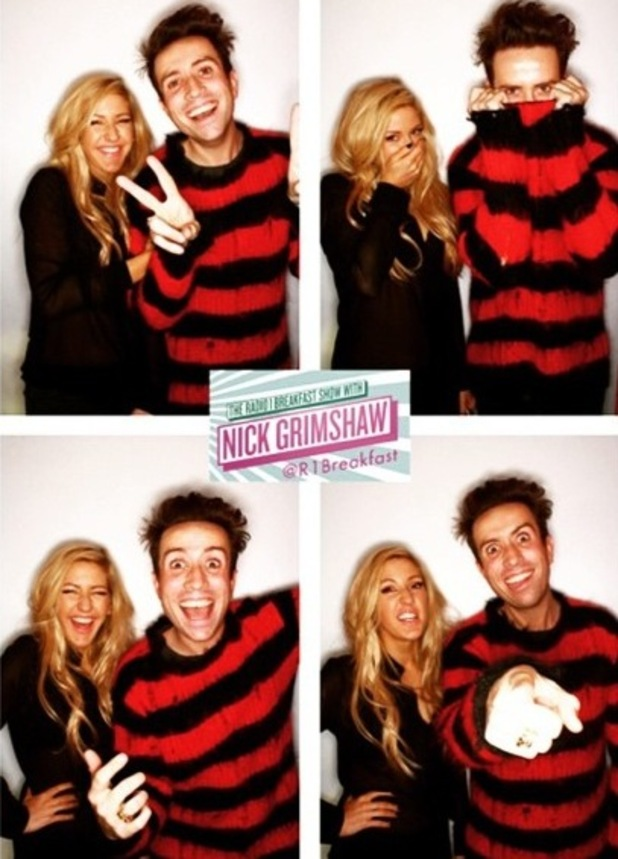Ellie Goulding and Nick Grimshaw, Radio 1, London 29 January