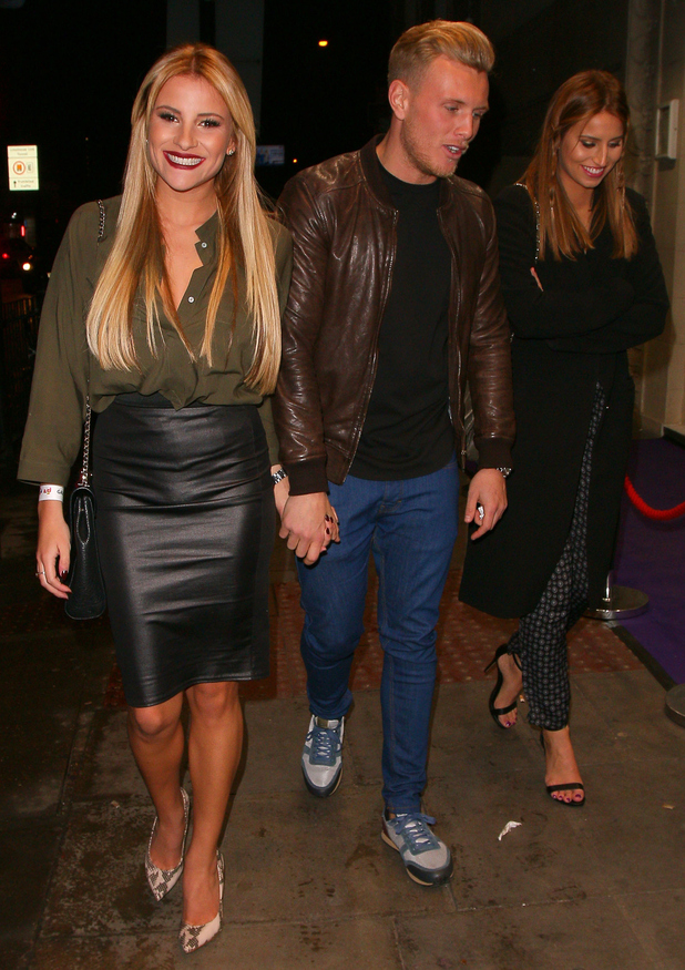 Georgia Kousoulou, Tommy Mallet and Ferne McCann head to the Troxy for the GAV AID 2015 charity event in London - 29 January 2015