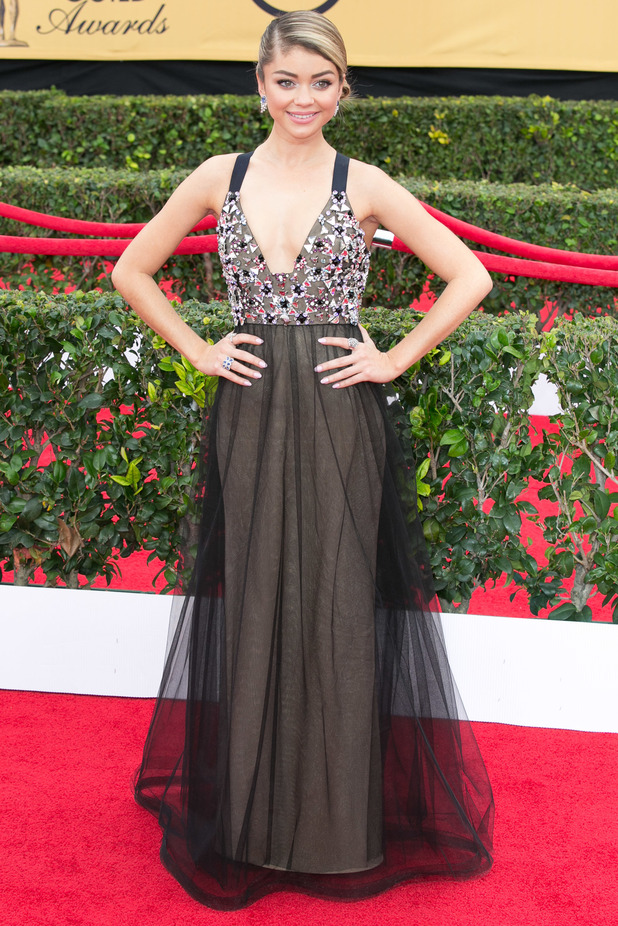 Sarah Hyland attends the Screen Actors Guild Awards in Los Angeles, America - 25 January 2015