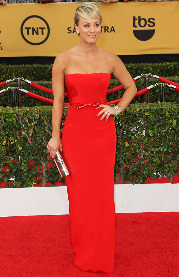 Kaley Cuoco-Sweeting attends the 21st annual Screen Actors Guild Awards at the Shrine Auditorium in Los Angeles - 25 January 2015
