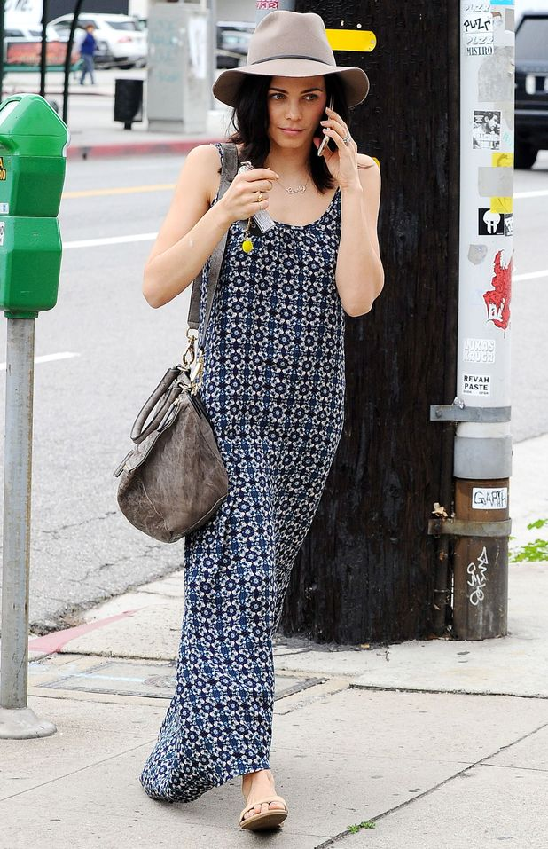 Jenna Dewan-Tatum wears a maxi dress while out in Los Angeles, America - 29 January 2015
