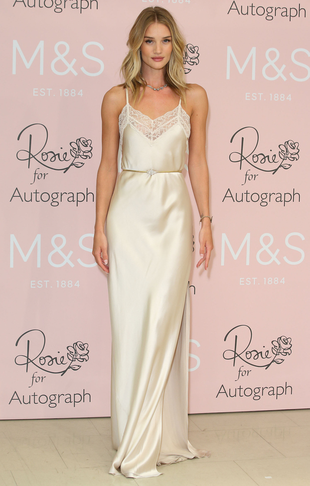 Rosie Huntington-Whiteley launches her Rosie for Autograph perfume at Marks & Spencer in Marble Arch, London - 29 January 2015