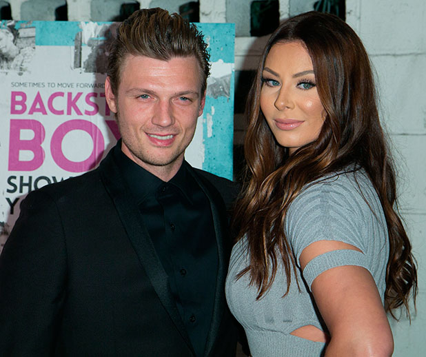 Nick Carter and Lauren Kitt, premiere of 'Backstreet Boys: Show 'Em What You're Made Of' - Arrivals, LA, 29 January 2015