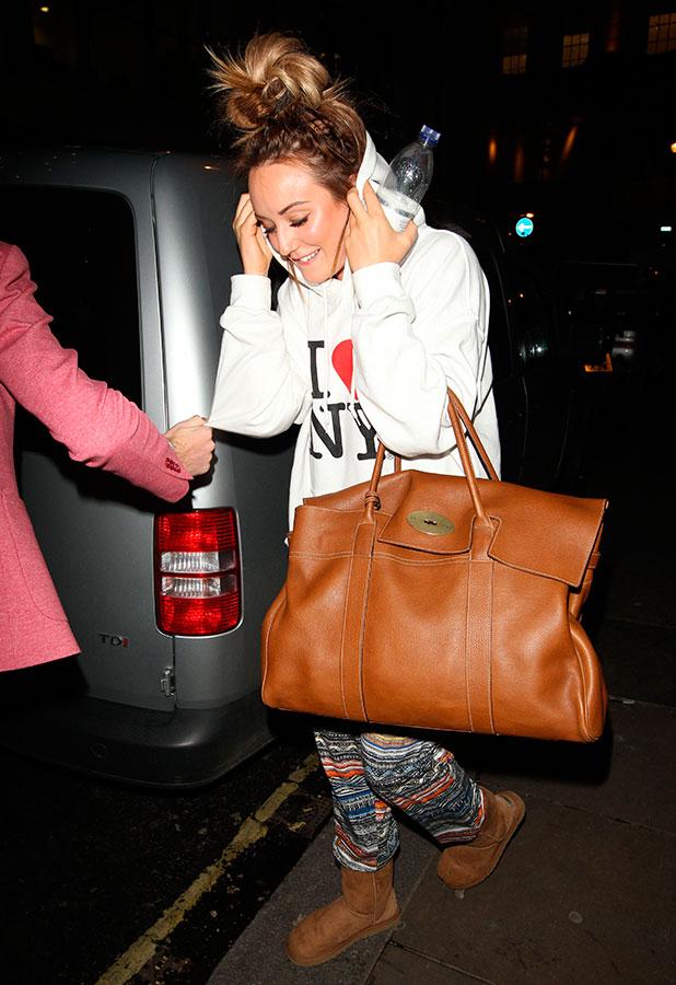 Charlotte Crosby leaving the Soho Sanctum, London, Britain - 28 Jan 2015
